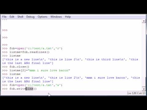 Python Programming Tutorial - 43 - Writing Lines