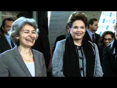 President of Brazil Dilma Rousseff at UNESCO