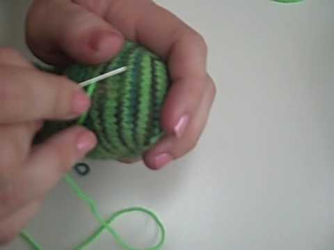 Sock Darning - Swiss Darning, part 2