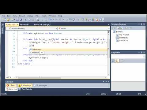 Visual Basic Tutorial - 92 - Person Part 1