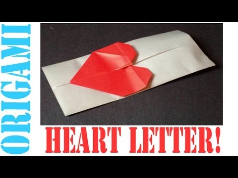 Origami Daily - 155: Message Heart Letter (Valentine's Day) - TCGames [HD]