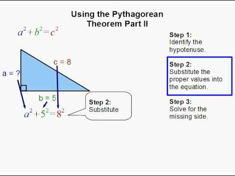 Using the Pythagorean Theorem Part II