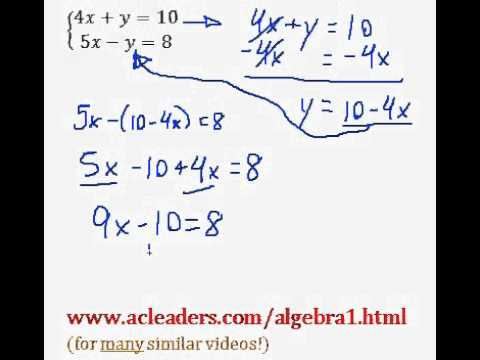 Systems of Equations - Solving by Substitution. EASY!!! (pt. 3)