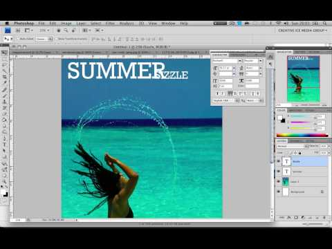 Photoshop Tutorial : How to design a magazine front cover
