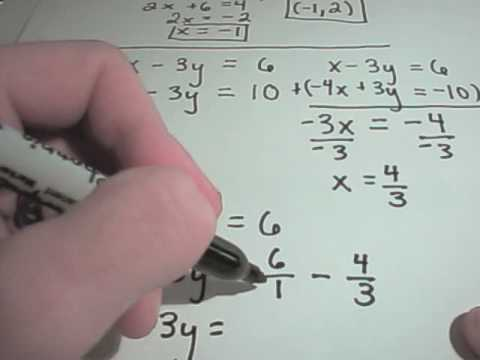 Solving Systems of Equations Using Elimination By Addition