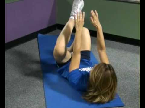 Toe Touches on Back, Alternating : BeYourTrainer.com