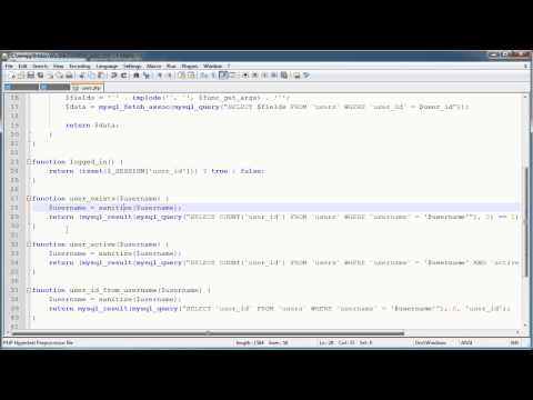PHP Tutorials: Register & Login (Part 10): Registration Form and Validation (Part 4)