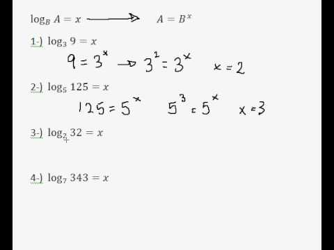 Simple Log Equations - Re-arranging logs into exponential equations - EASY!!!!