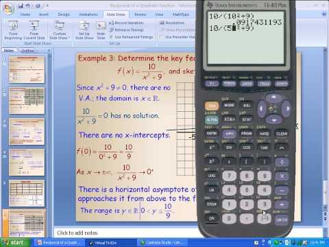Reciprocal of a Quadratic Function Part 4