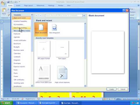 Word 2007 Tutorial 20 - Saving Templates and Making Documents From Saved Files