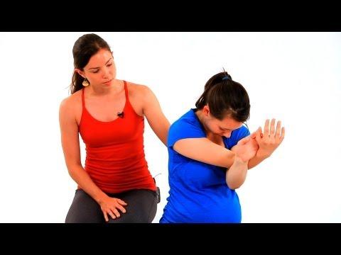 Prenatal Yoga Poses: Eagle Pose   Pregnancy Exercises