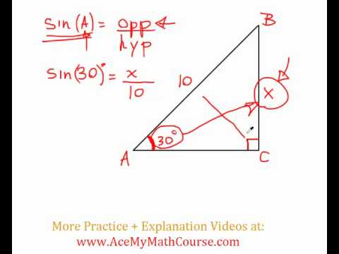 Sine Ratio - Question #1 (Introductory Trig)