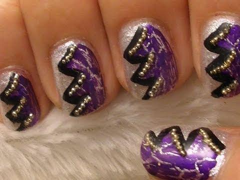 Purple Rocker Nail Art