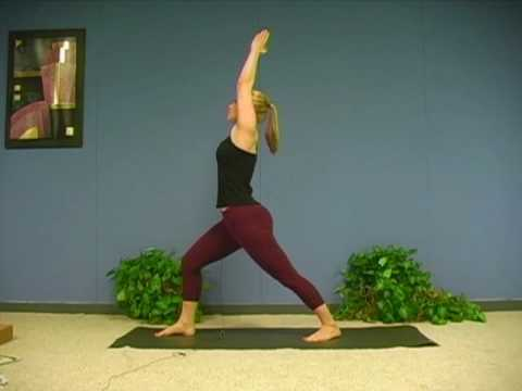 Yoga Poses w/ Sonja 2, Warrior 1 Asana  Virabhadrasana Yoga for Beginners