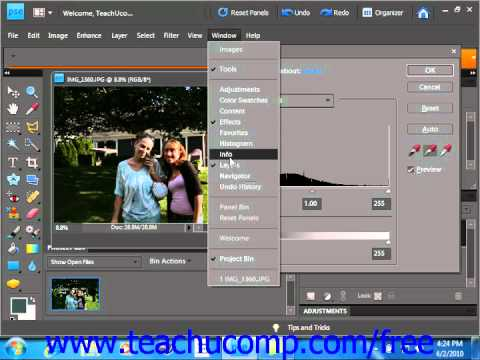 Photoshop Elements 9.0 Tutorial Using Levels Adobe Training Lesson 14.5