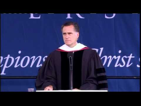 Watch Mitt Romney's Commencement Speech at Liberty University