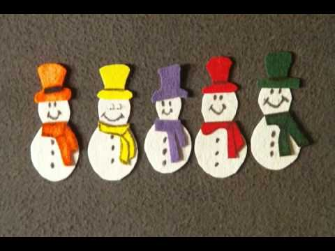 Winter Preschool Songs - 5 Chilly Snowmen song - Littlestorybug
