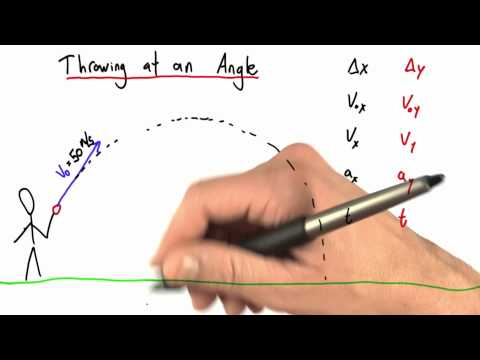 Throwing at an Angle - Intro to Physics - Motion - Udacity