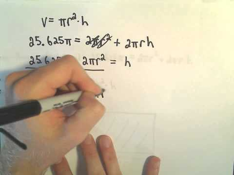 Optimization Problem #6 - Find the Dimensions of a Can To Maximize Volume