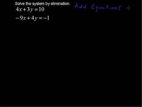 Solving a System by Elimination - College Algebra Tips
