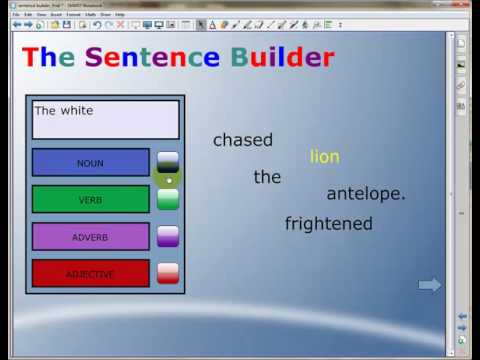 Notebook Application - The Sentence Builder