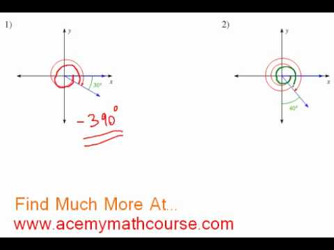 Trigonometry - Quadrants & Standard Position Angles (Part 3)