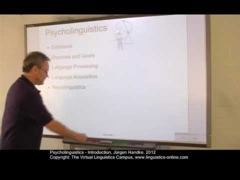 Psycholinguistics - Introduction