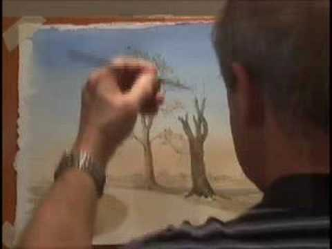 Painting Watercolour Trees 2 - Winter Trees