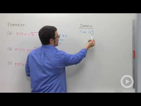 Precalculus - Finding the Domain of a Function