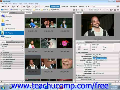 Photoshop CS5 Tutorial Viewing & Editing Metadata Adobe Training Lesson 2.13