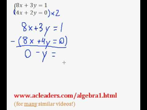 System of Equations - Solving by Addition/Elimination (pt. 8)