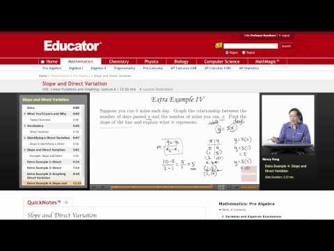 Pre Algebra: Slope and Direct Variation