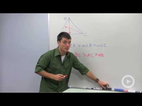 Triangle Side and Angle Inequalities