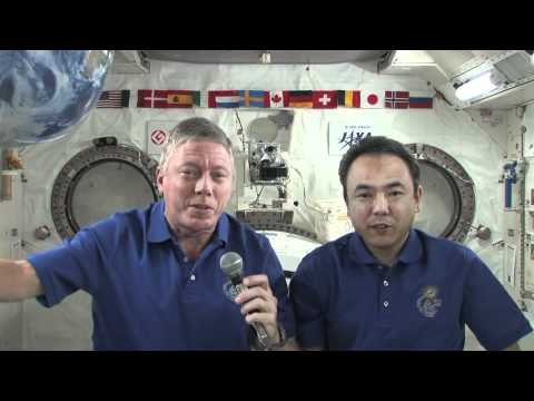 Station Crew Discusses Life in Space With Famed Environmentalist