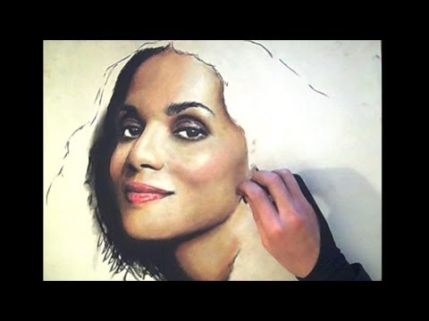 Pastel Portrait - Halle Berry - from theportraitart