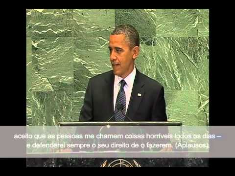 Obama Address at U.N. : Protect Free Speech with Portuguese Subtitles