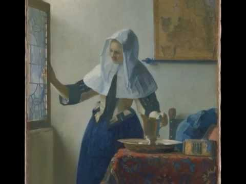 Vermeer, Young Woman with a Water Pitcher,  c. 1662