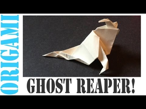 Origami Daily - 045: Halloween Ghost Reaper - TCGames [HD]