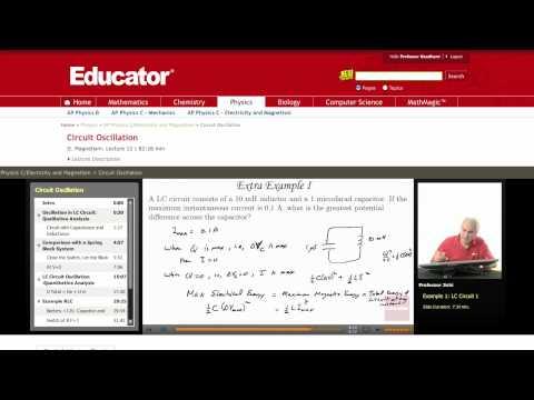 Physics: LC Circuit (Circuit Oscillation)