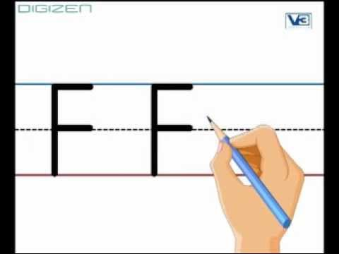 uppercase F and lowercase f with drawing (flag)