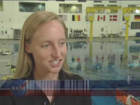 Woman Diver Trains Spacewalkers Underwater