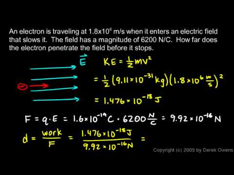 Physics 12.3.4c - Electric Field Example Problems