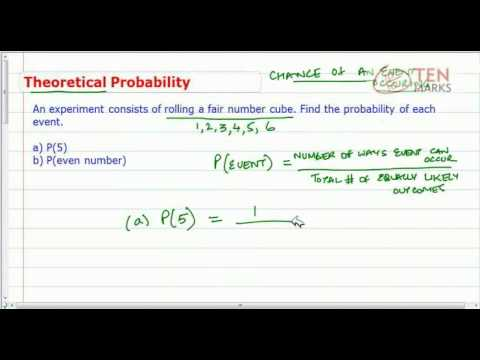 Theoretical Probability Using Formula