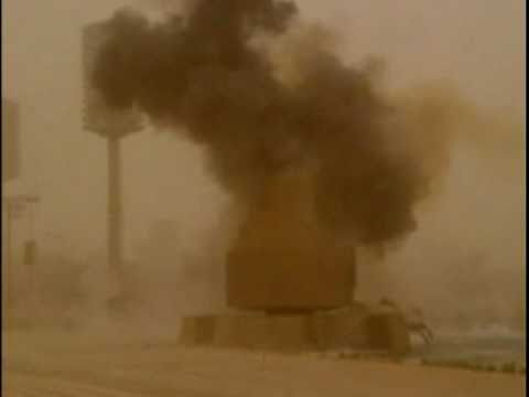 U.S. Soldiers destroy statue in Baghdad - April 7, 2003
