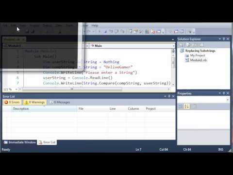 Visual Basic Tutorial - 23 - Comparing Strings