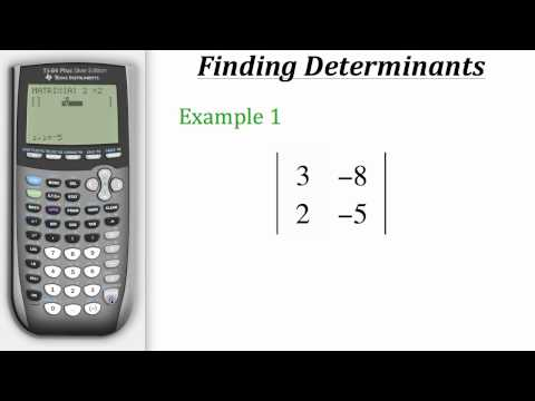TI Calculator Tutorial: Finding Determinants
