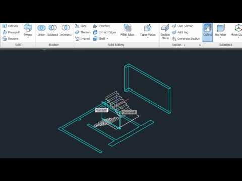 Presspull to Create a 3D Floor Plan