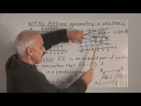 WT36: Affine geometry and vectors