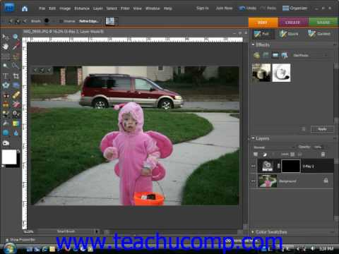 Photoshop Elements Tutorial The Smart Brush Tools Adobe Training Lesson 6.10