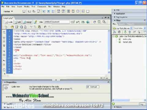 Webmaster: 42 PHP Mail function